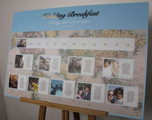 travel wedding table plan