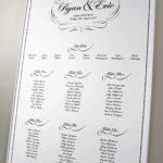 classic wedding table plan