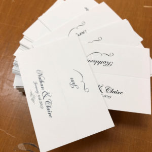 classic wedding guest name cards
