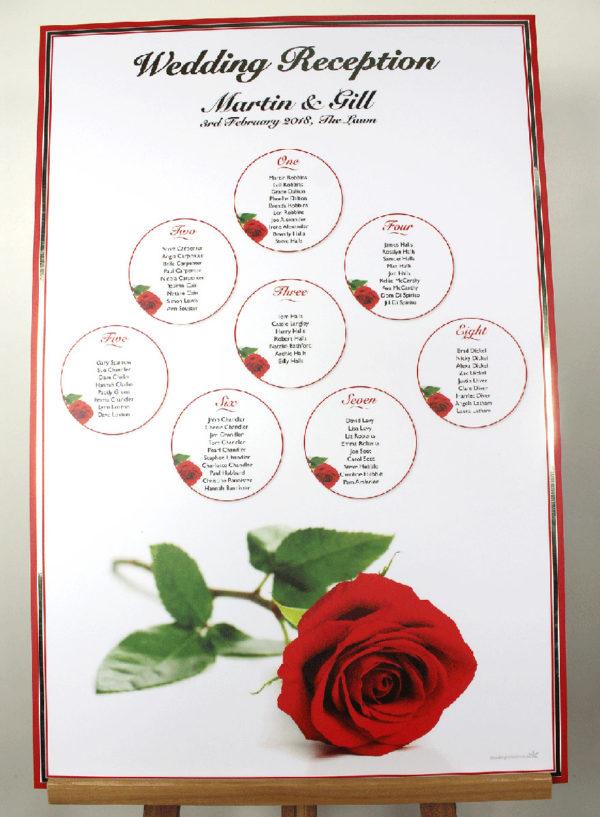 red rose wedding plan