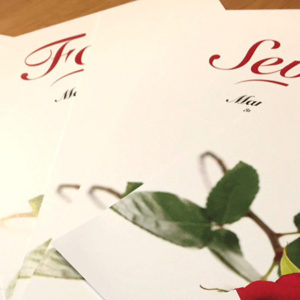 rose wedding cards