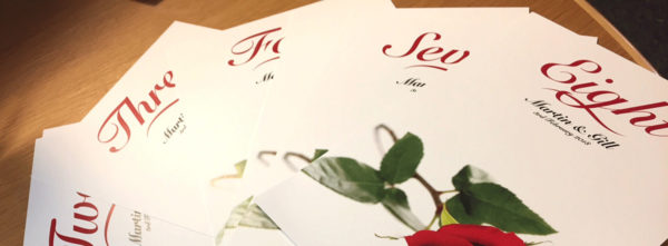 rose wedding cards